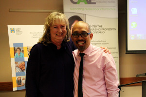 Kim Brooks and Edsel Mutia at the award ceremony