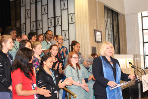 Minister Deb Matthews and St. Michael's Hospital nurses
