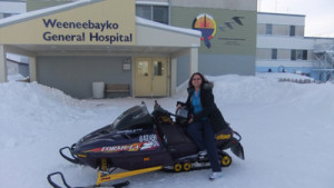Angeline Peruelo at the Weeneebayko General Hospital
